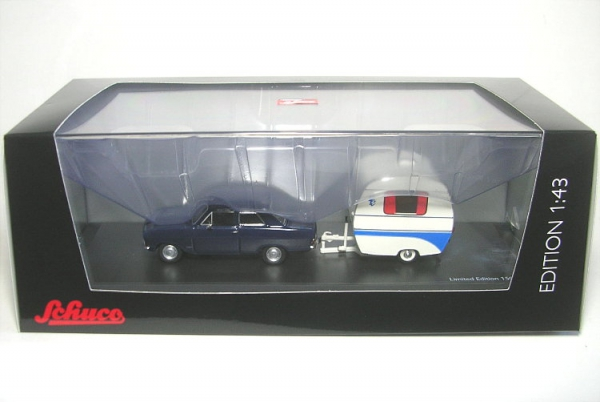opel kadett b blue with kancherla swallow 039 s nest caravan ebay. Black Bedroom Furniture Sets. Home Design Ideas